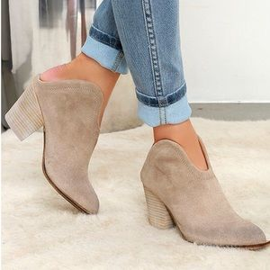 Chinese Laundry Kelso Suede Mule Booties